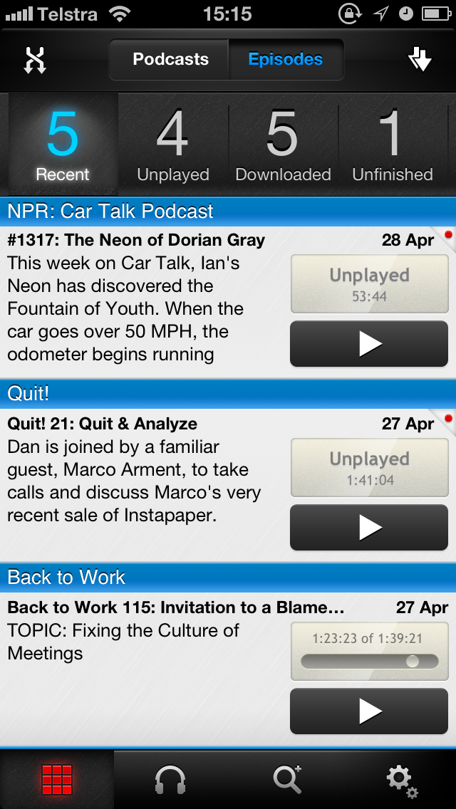 Pocket Casts - My preferred iOS podcast client