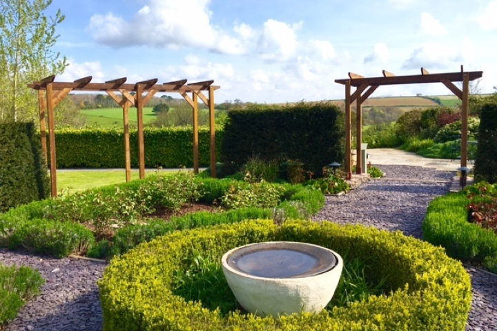 Two pergolas in the countryside