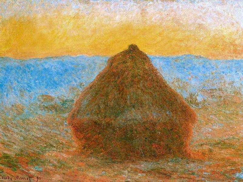 Monet's Haystacks appears at number six on the list.
