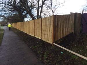 Closeboard Fencing Corner