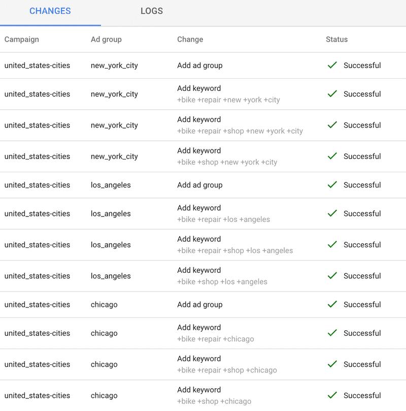 keyword builder preview