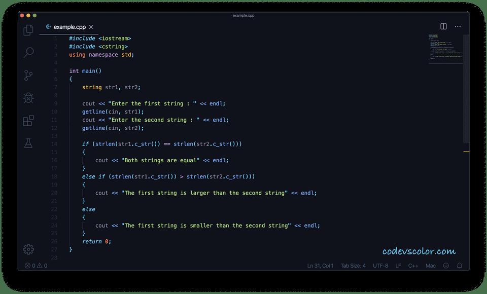C++ string compare