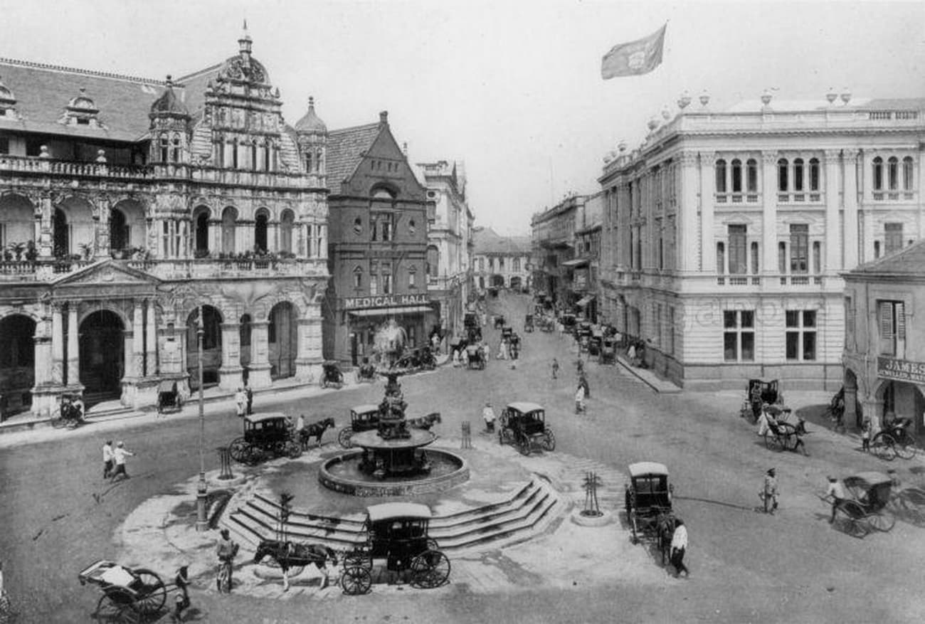 Fullerton Square and Battery Road, c. 1900