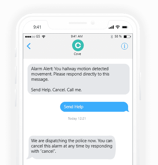 Cove Instatext Easy Home Security Mobile Notifications