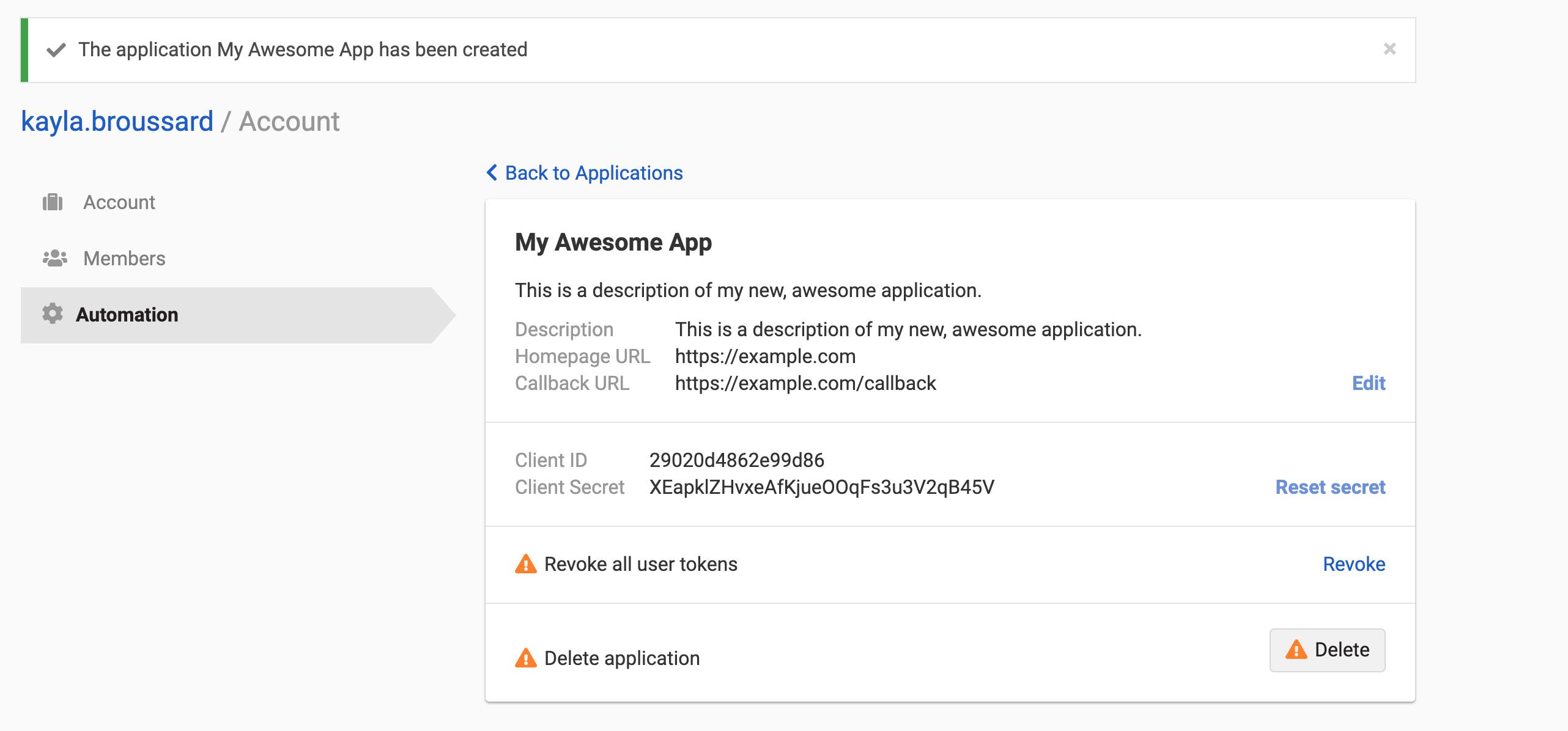 App created