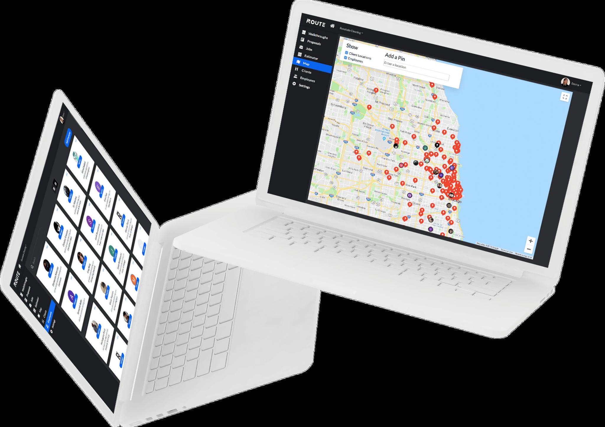 Route Company Portal Screens