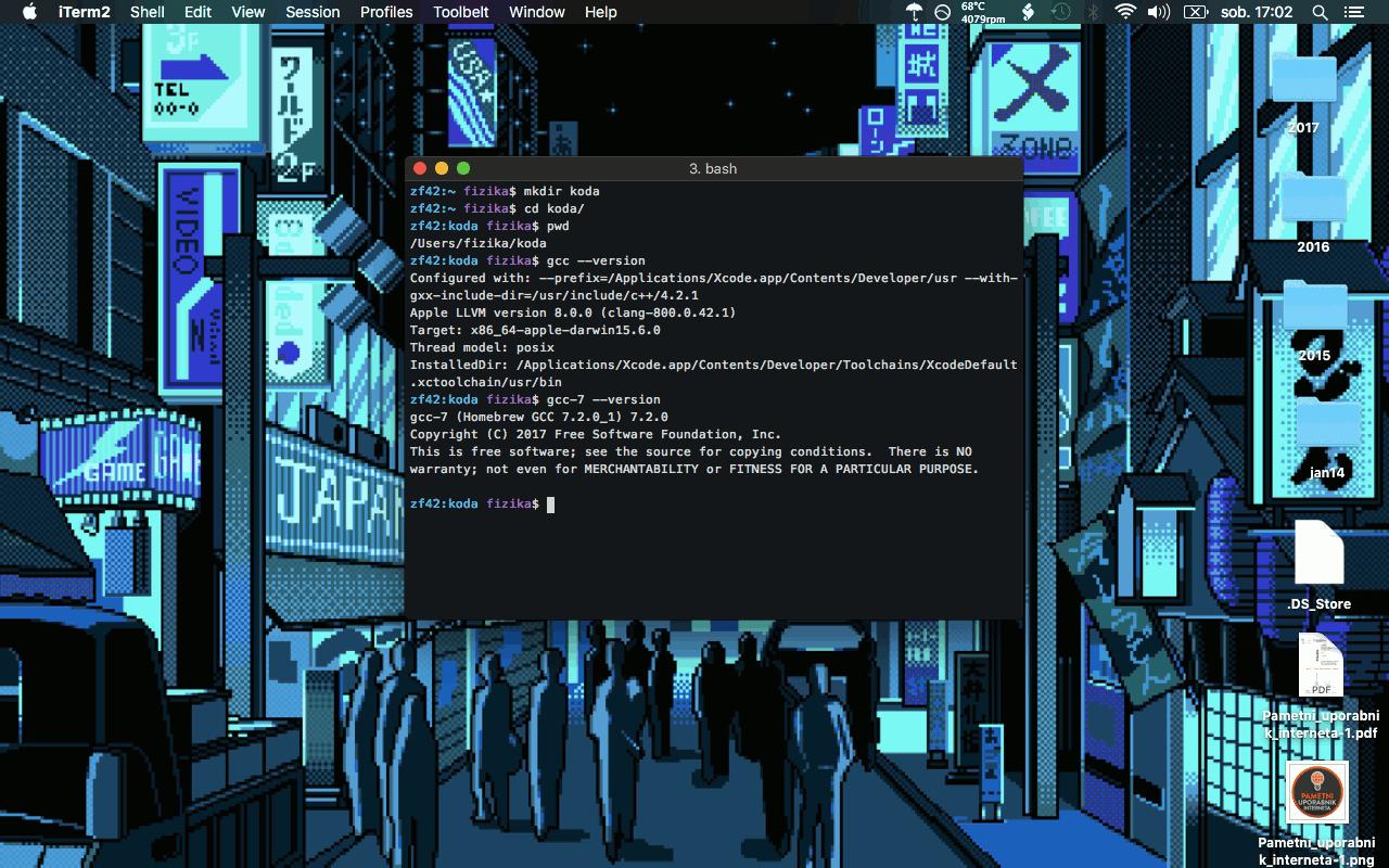 Slika 2: OS X Okolje