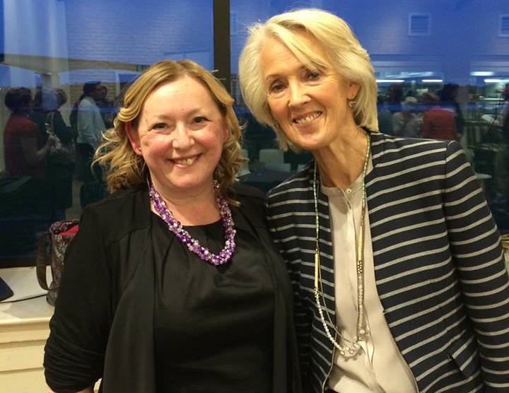 General manager Alison Wheeler and Joanna Trollope