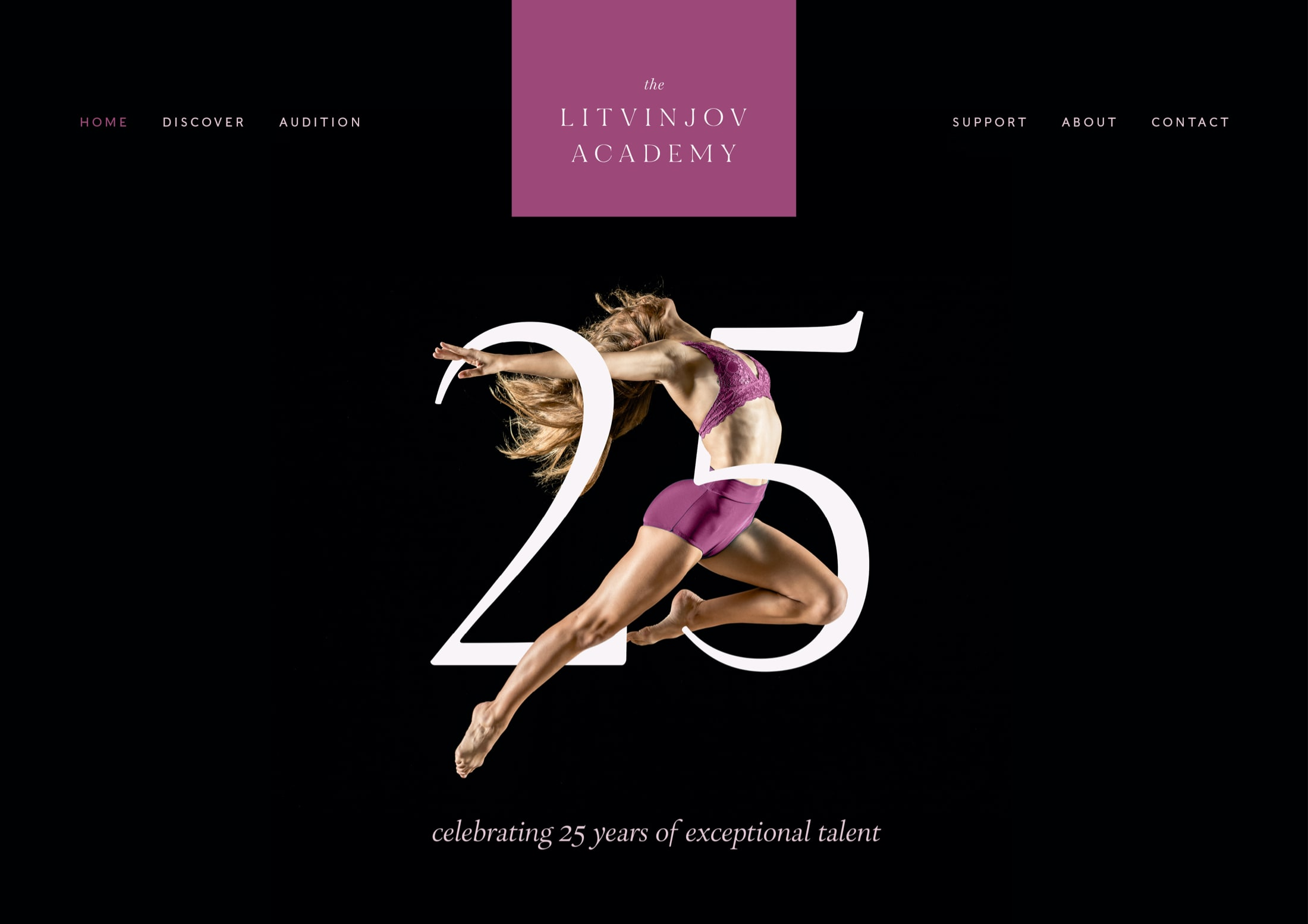 Prestigious website design for ballet and contemporary dance school, The Litvinjov Academy