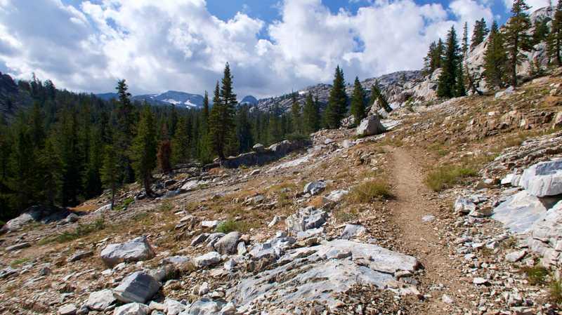 The PCT begins to climb toward Dorothy Lake Pass