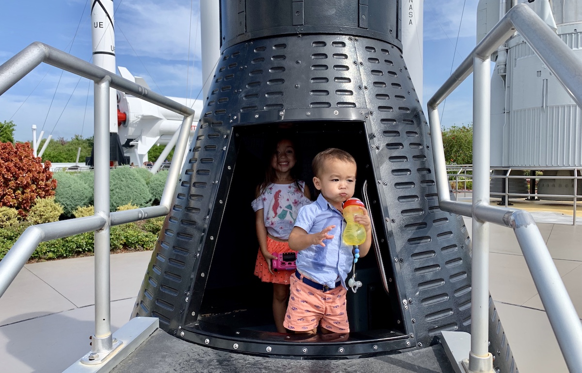 Kids in Mercury capsule