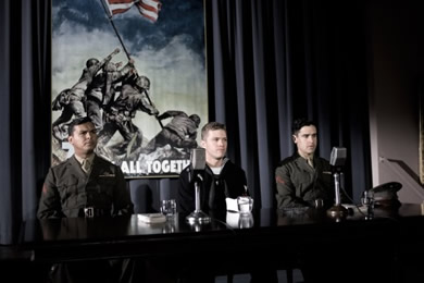Adam Beach, Ryan Phillippe and Jesse Bradford in Flags Of Our Fathers