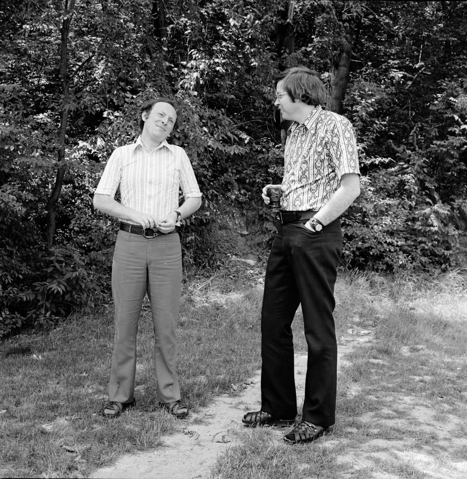 Иосиф Бродский слитературоведом Карлом Проффером вМичиганском университете, июль 1972года. Фото: aadl.org