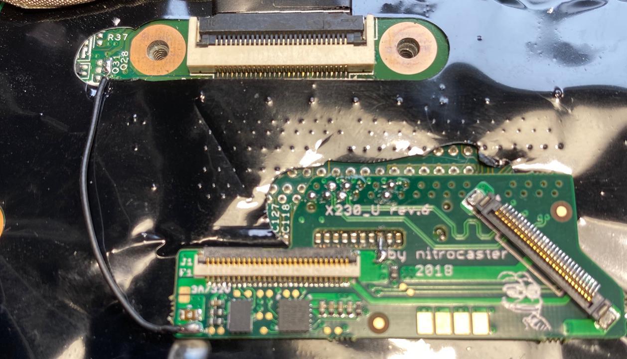 Nitrocaster mod board installed