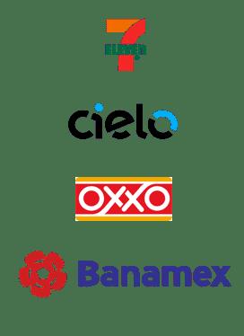 7Eleven, Cielo, Oxxo, Banamex