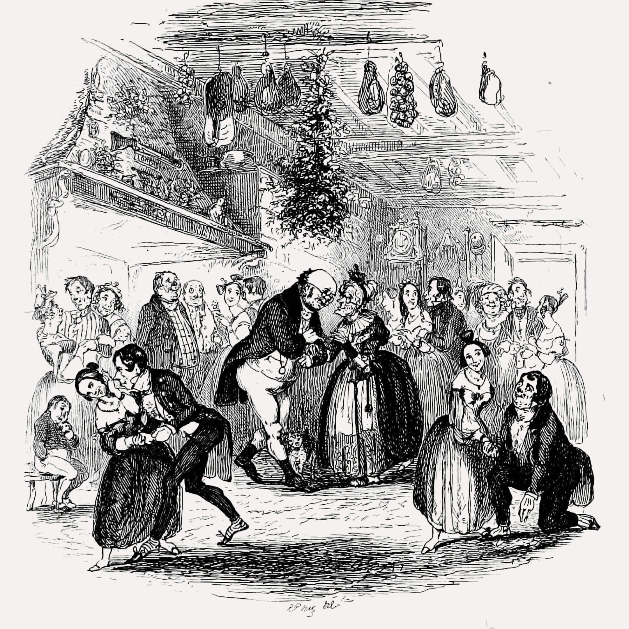Иллюстрация кповести Чарльза Диккенса «Рождественская песнь впрозе». Художник Габлот Найт Браун, 1837год. Источник: Internet Archive Book Images