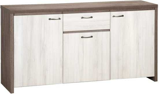 True Furniture Berlijn 13 Dressoir Truffel Eiken White Wash 9200000086979296 165x86 cm