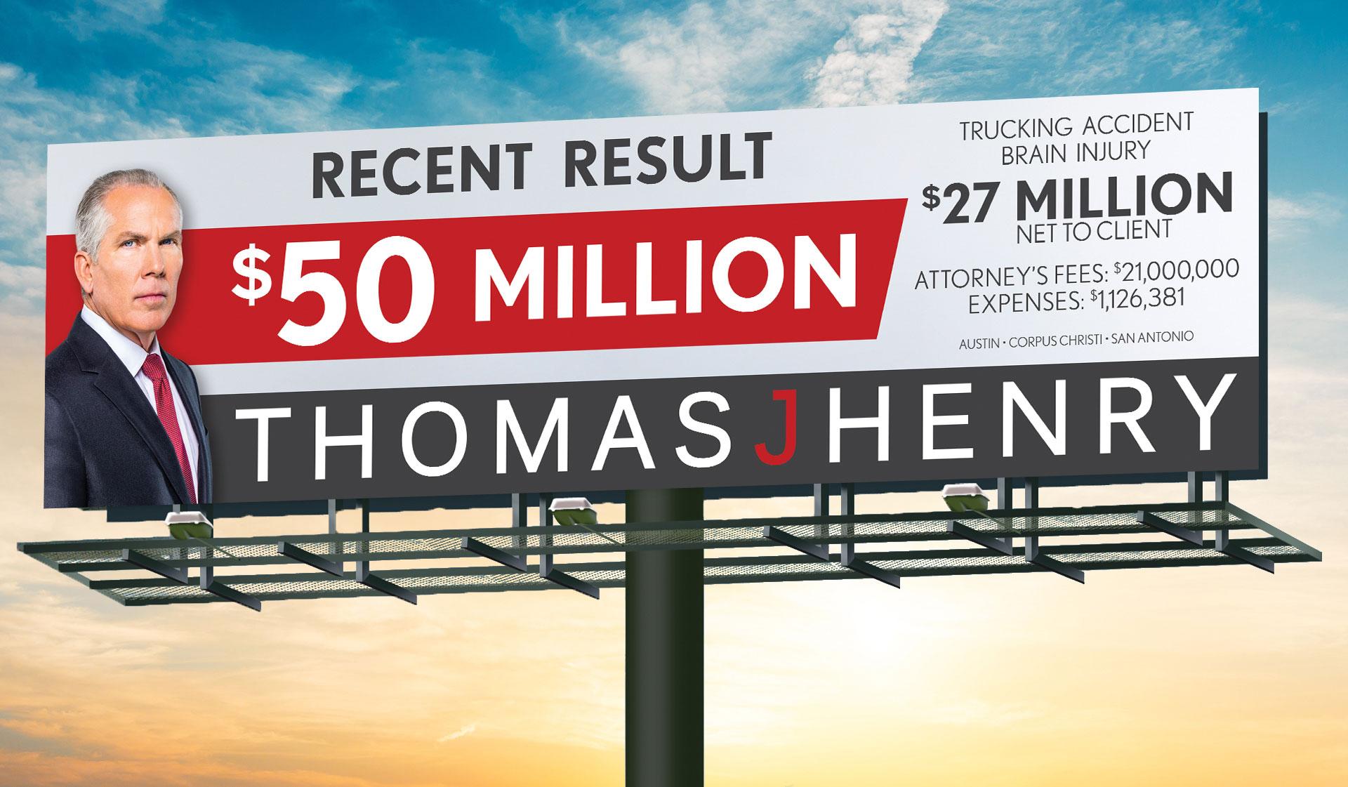 TJH Millions Billboard