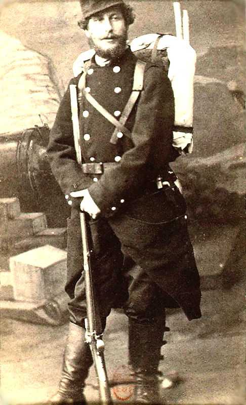 A photo of Frédéric Bazille at the 3rd Zouaves light infantry regiment