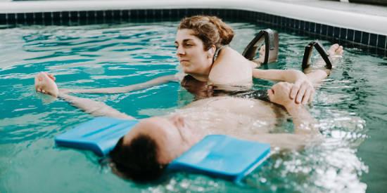 Massage en eau chaude