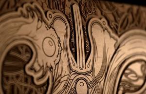 A beautifully engraved Ochre deck