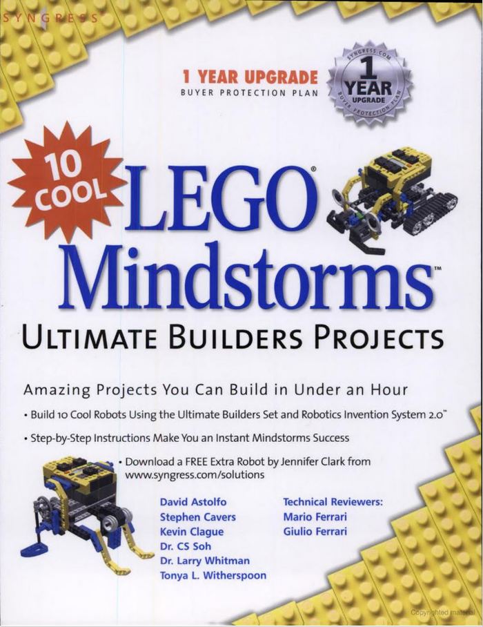 10 Cool Lego Mindstorms: Ultimate Builders Projects.
