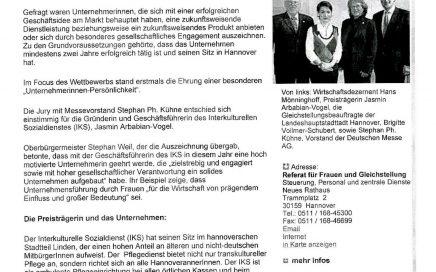 Zeitungsartikel von 2008