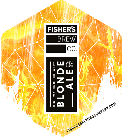 Fisher's Blonde Ale pump clip