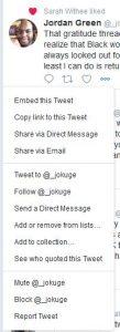 Triple-dot menu on a tweet