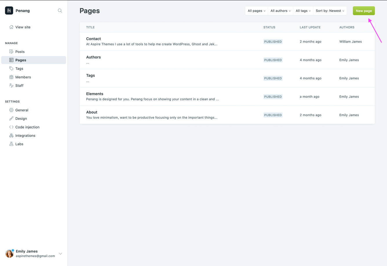 Create the Contact Page