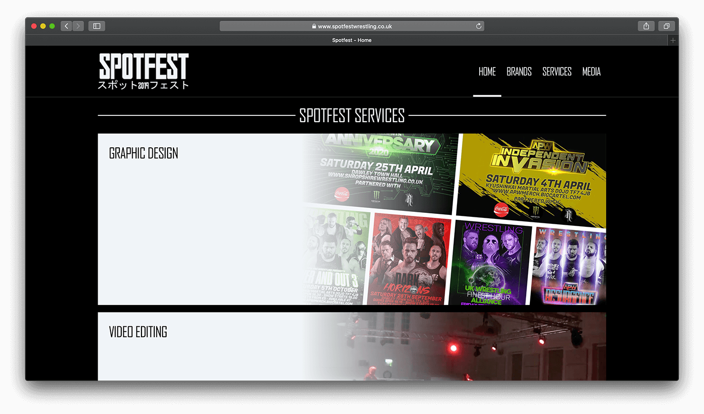 SPOTFEST website screenshot