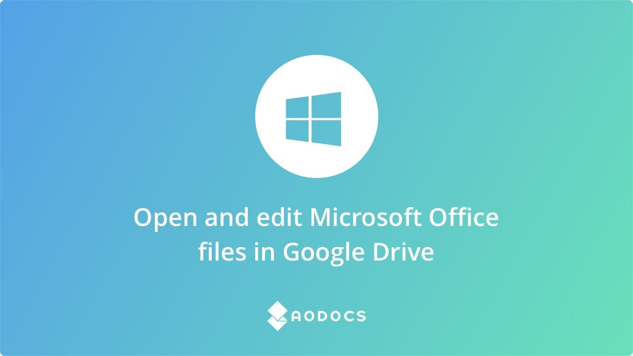 Open and edit Microsoft Office files in Drive's thumbnails