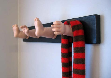 Dismembered Doll Coat Rack