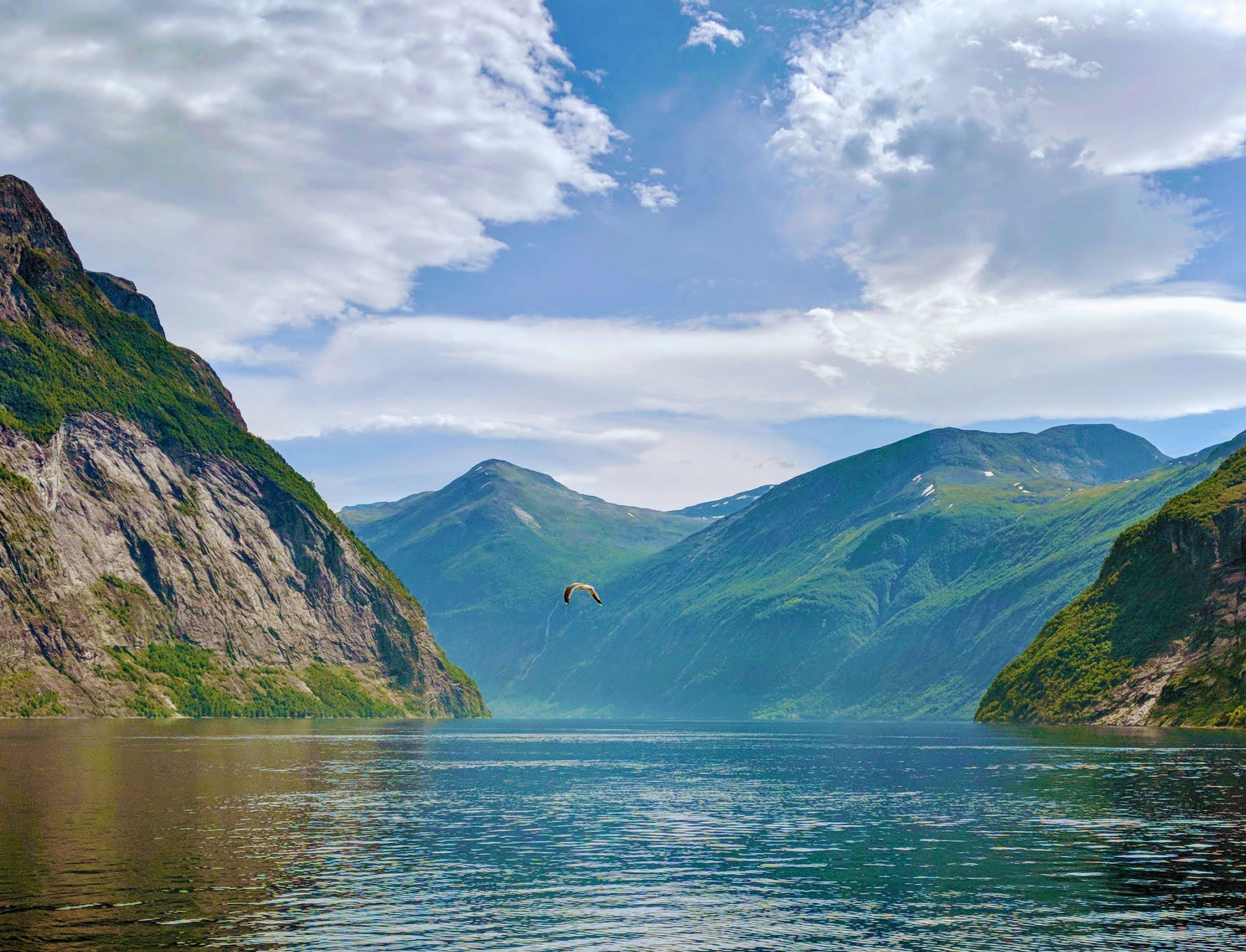 The majestic Geirangerfjord surroundings for BREEN hotel, Norway.