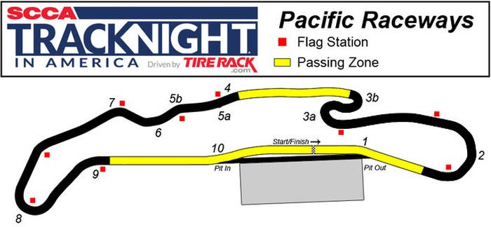 Pacific Raceway Track Map
