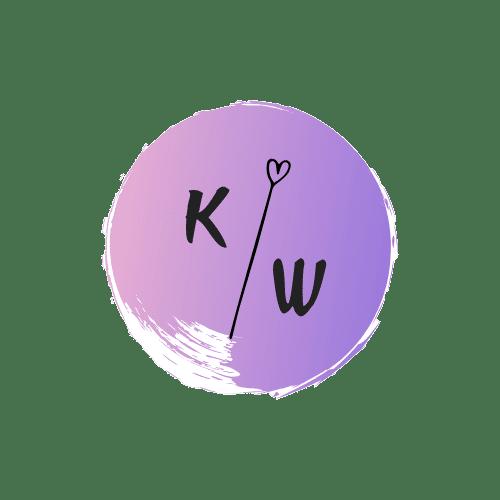 Logo Kirsten van der Winden met bloemetje en initialen