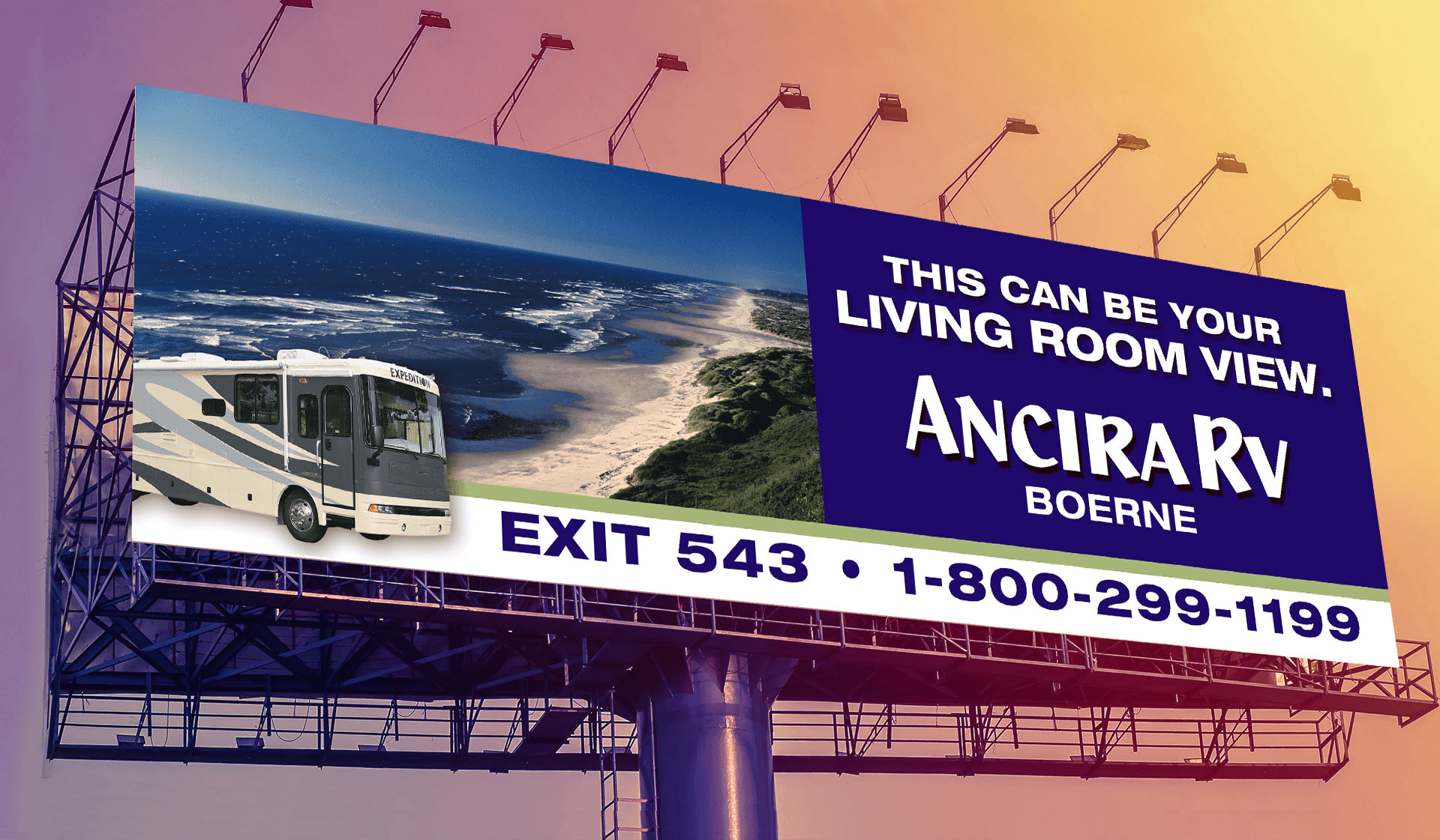 Ancira RV Billboard