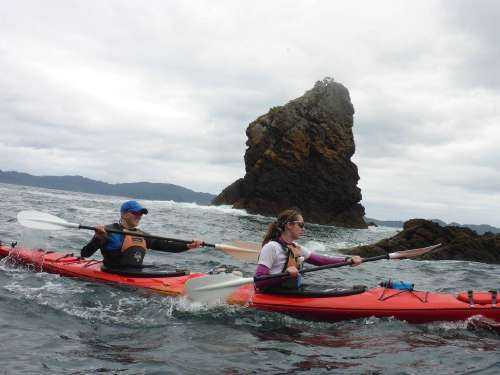 Kayaking near Cathedral Cove