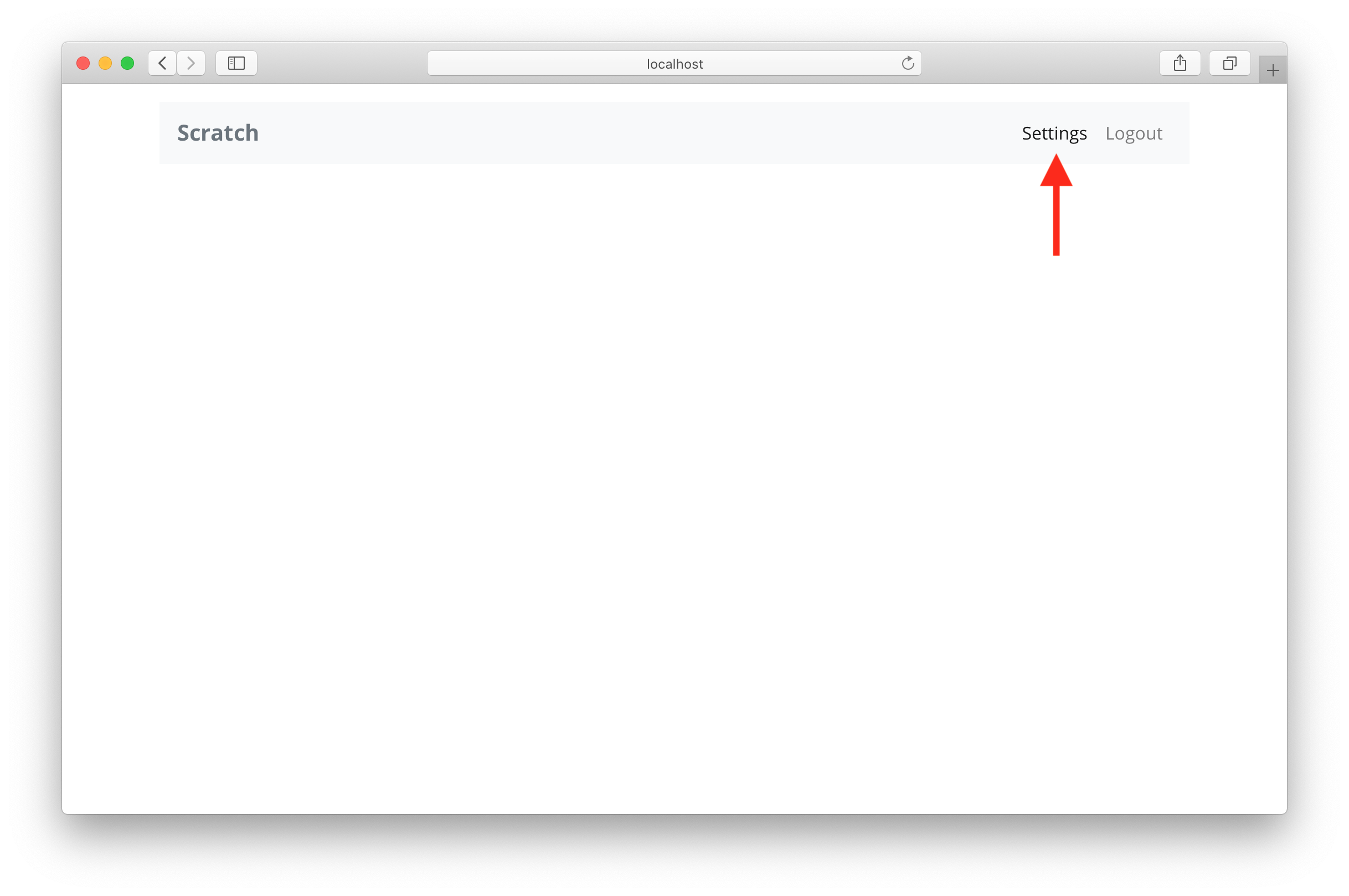 Add empty settings page screenshot