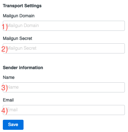alt Transport via Mailgun