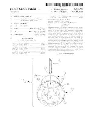 Come Play Products Illuminated Toy Pail Patent #5984754.pdf preview