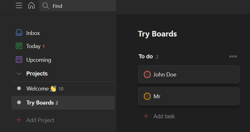 Task created automatically in Todoist