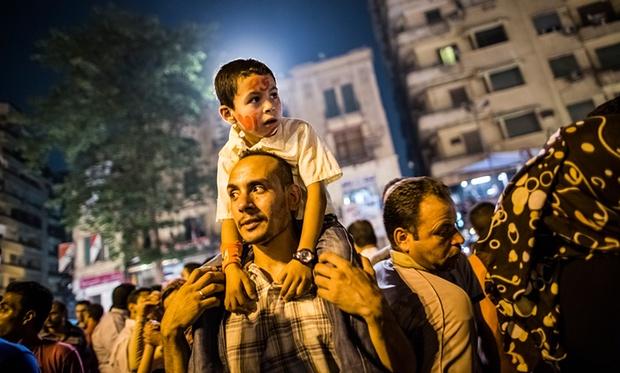 Protestors in Cairo, June 2012. Photograph: Daniel Berehulak/Getty Images