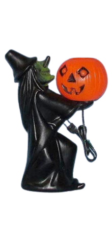 Electric Lite-Up Witch With Pumpkin photo