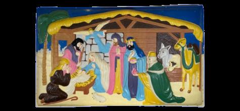 Nativity Scene Plaque photo