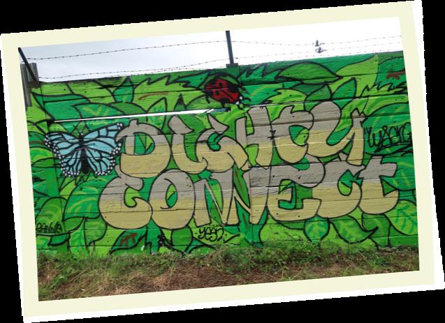 Dighty Connect Graffiti Mural