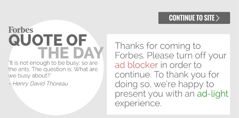 The Forbes splash screen