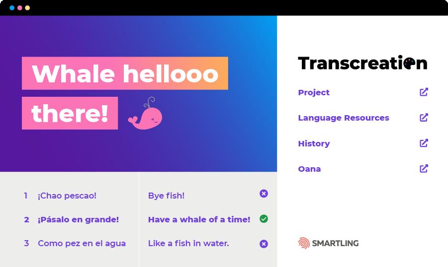 Transcreation Dashboard