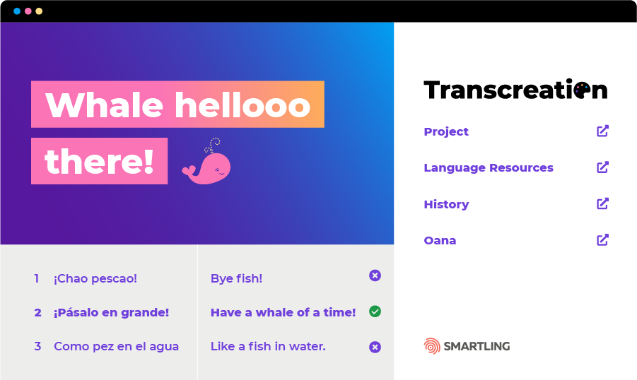 Transcreation Dashboard