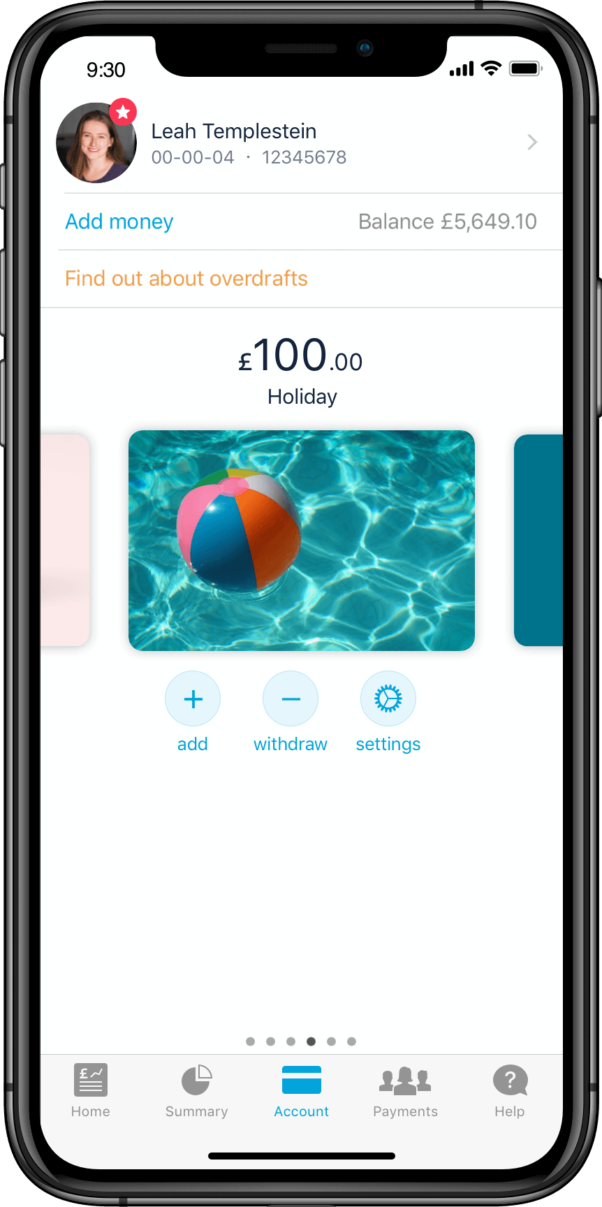 Image of Monzo Pots in the app